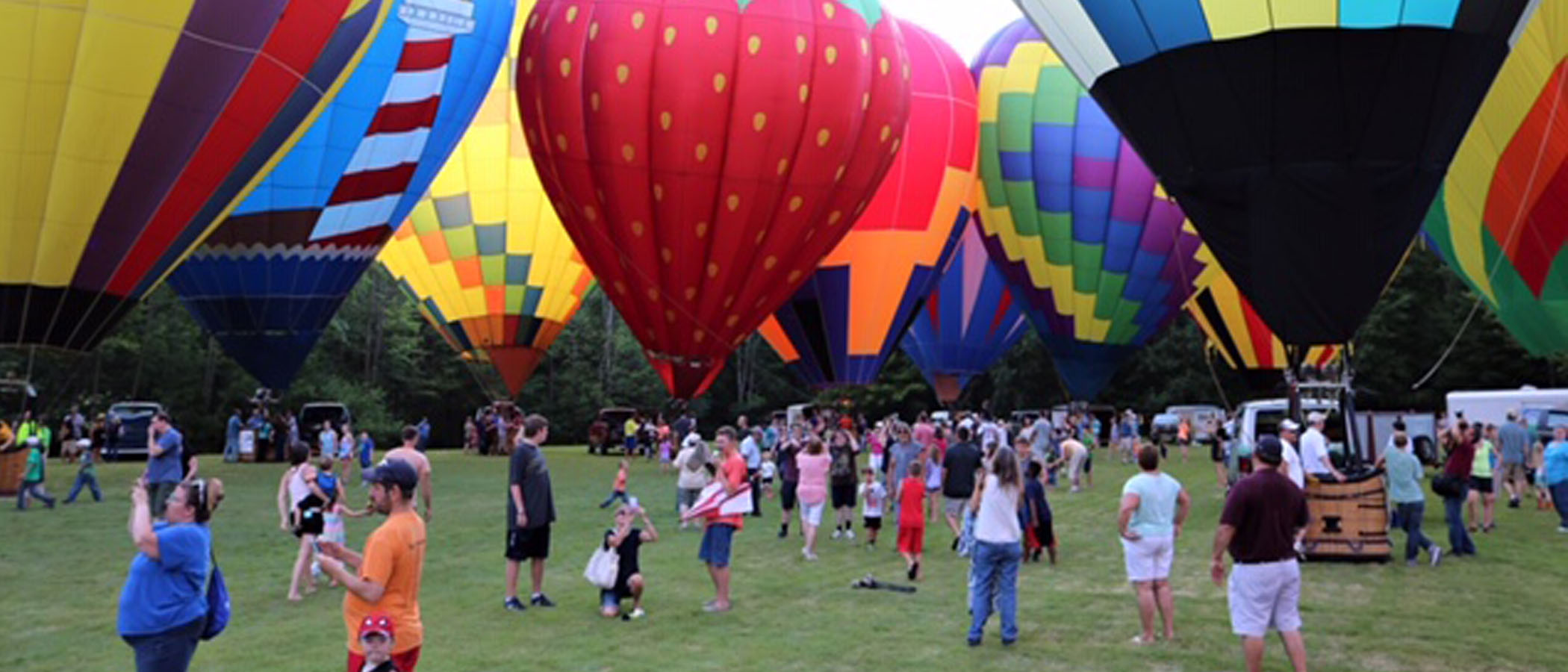 The annual Thurston Classic hot-air balloons in Meadville, Pennsylvania!
